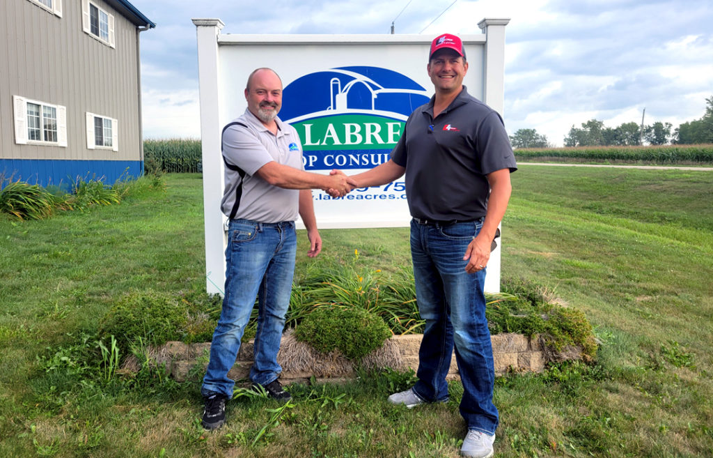 E4 Crop Intelligence President, Greg Reisz, and Labre Crop Consulting, Brent Johnson, reached an acquisition agreement